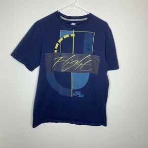 SOLD Mens L Navy Blue Flight Short Sleeve Graphic